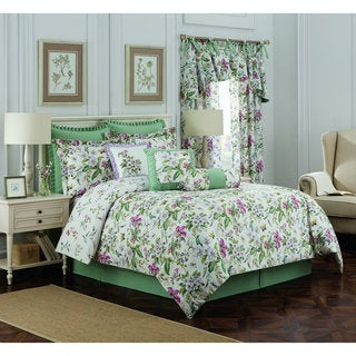 Williamsburg Palace Green 4-Piece Full Comforter Set