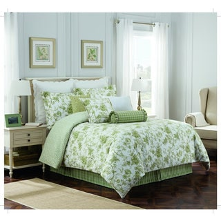 Williamsburg Burwell Green Toile 4-Piece Comforter Set