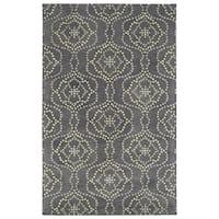 Hand-Tufted Lola Mosaic Slate Cobblestone Wool Rug - 2' x 3'