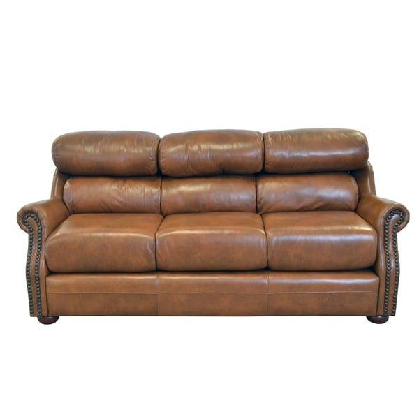 Best Genuine Leather Sectional Sofa: Shop Made To Order Beacon Genuine Top Grain Leather Bustle