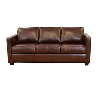 Made to Order Salisbury Genuine Top Grain Leather Sofa (More options available)
