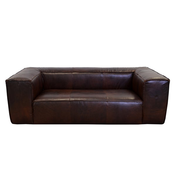 Shop Made To Order Lawton Genuine Top Grain Leather Sofa