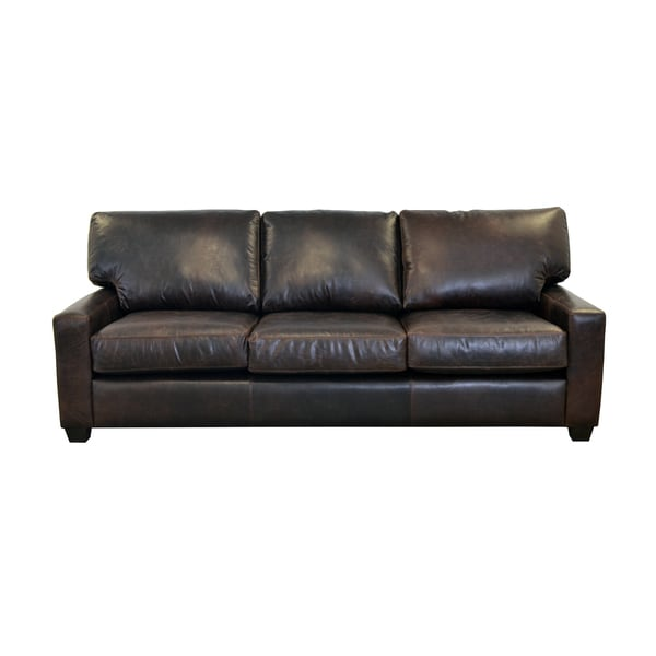 Best Genuine Leather Sectional Sofa: Shop Made To Order Kenmore Studio Genuine Top Grain