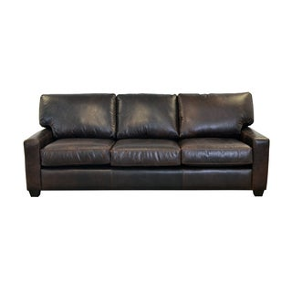 Made to Order Kenmore Studio Genuine Top Grain Leather Sofa