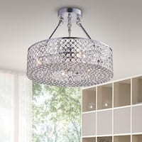 Olenec Chrome 15-inch Crystal Cake Lamp