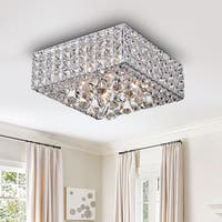Sullin Chrome Crystal Square Ceiling Lamp