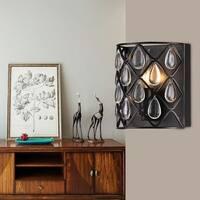Tafari  Metal and Glass 1-light Wall Sconce