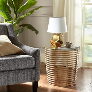 Madison Park Carson Gold End Table