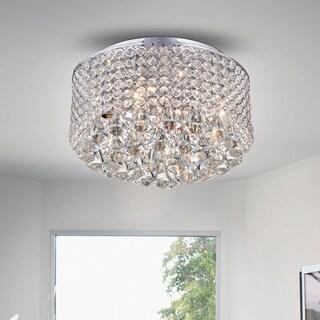 Wendu Chrome 17-inch Round Crystal Lamp