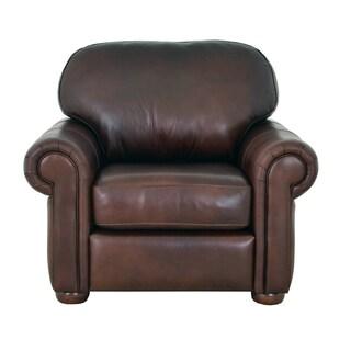 Heath Genuine Top Grain Leather Armchair