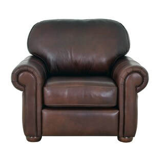 Heath Genuine Top Grain Leather Armchair