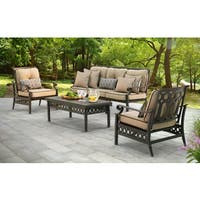 Sunjoy Catelynn Steel and Aluminum Chat Set