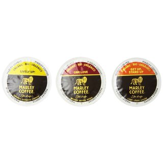 Marley Coffee Variety Flavored Pack, RealCup Portion Pack for Keurig Brewers