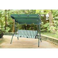 Sunjoy Raton Forest Green Steel 3-seater Patio Swing