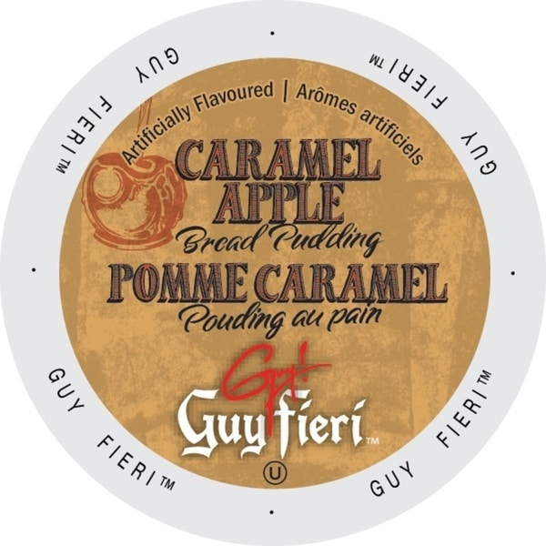 Guy Fieri Coffee Caramel Apple Bread Pudding Single Serve Cup Portion Pack