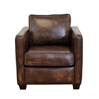 Salisbury Genuine Top Grain Leather Armchair