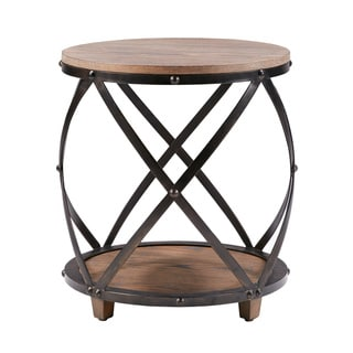 Madison Park Kagen Antique Bronze Bent Metal Accent Table