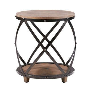 Madison Park Brooklyn Antique Bronze Bent Metal Accent Table