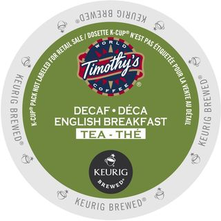 Timothy's English Breakfast Decaf Tea K-Cup Portion Pack