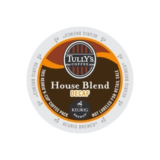 Tully's House Blend Decaf Extra Bold Coffee K-Cup Portion Pack