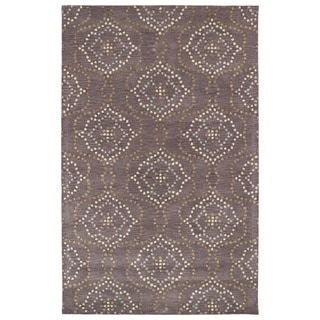 Hand-Tufted Lola Mosaic Grape Cobblestone Wool Rug (5'0 x 7'9)