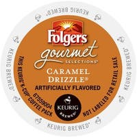 Folgers Gourmet Selections Caramel Drizzle Coffee, K-Cup Portion Pack for Keurig Brewers