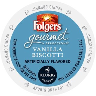 Folgers Gourmet Selections Vanilla Biscotti Coffee, K-Cup Portion Pack for Keurig Brewers