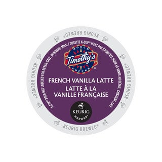 Timothy's French Vanilla Latte K-Cup Portion Pack