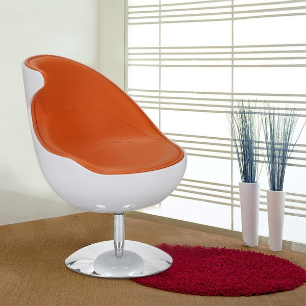 Adeco Retro 360 Swivel Faux Leather Color Series Chair