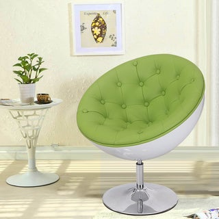 Adeco Color Series Retro 360-Swivel Leisure Chair