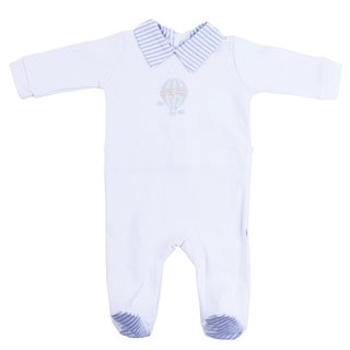 Briobebe Boys' Blue Cotton Hot Air Balloon Jumpsuit