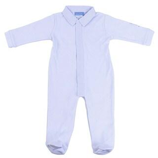 Briobebe Blue Cotton Gingham Trim Jumpsuit