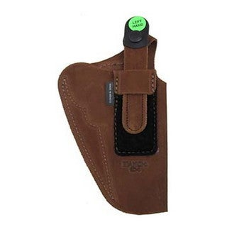 Bianchi 6D Deluxe Waistband Holster Natural Suede, Size 04, Left Hand
