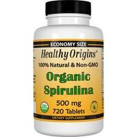 Healthy Origins Organic Spirulina 500 mg (720 Tablets)