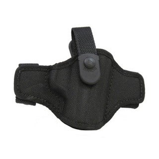 Bianchi 7506 AccuMold Belt Slide Holster, Thumbsnap Plain Black, Size 15, Right Hand