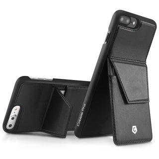 Cobble Pro CobblePro Black Leather with Stand/ Wallet Flap Pouch For Apple iPhone 7 Plus