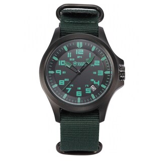 Shark Sport Watch Army Green Men's Date Display Military Outdoor Nylon Strap Wrist Watch (with Gift Box)