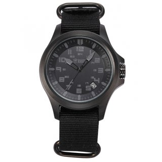Shark Sport Watch Army Men's Date Display Military Outdoor Black Nylon Strap Wrist Watch (with Gift Box)