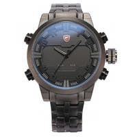 Shark Sport Watch Men's Dual Movement Date Day Quartz Watch Stainless Steel Band (with Gift Box)