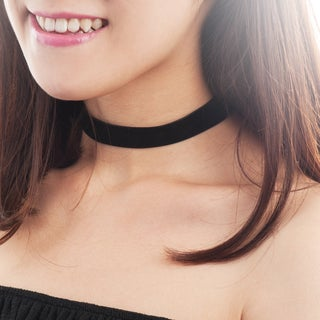 Zodaca Women Fashion Black Adjustable Gothic Soft-touch Velvet Choker Necklace Jewelry