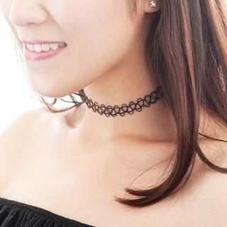 Zodaca Women Fashion Black Extendable Gothic Tattoo Choker Necklace Jewelry