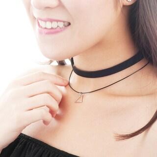 Zodaca Women Fashion Black/ Silver Velvet and Charm Multirow Choker Necklace Pendant Jewelry