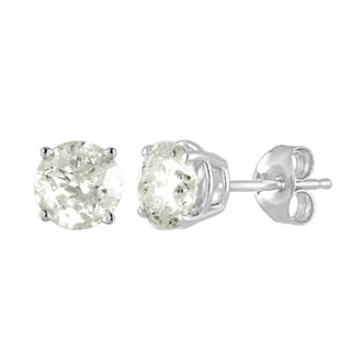10K Diamond Stud Earring White gold (1/2cttw H-I Color, I2 Clarity)