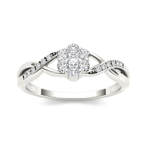 1/4ct TDW Diamond Promise Ring in Sterling Silver - White