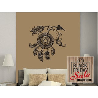 Arrows Wall Decal Dreamcatcher Dream Catcher Feathers Night Symbol Indian Sticker Decall size 44x52