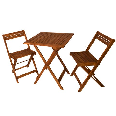Havenside Home Surfside Outdoor Square Folding Table with Chairs