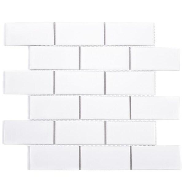 Giorbello White Porcelain 2x4-inch Subway Tiles (16.5 Sq Ft)