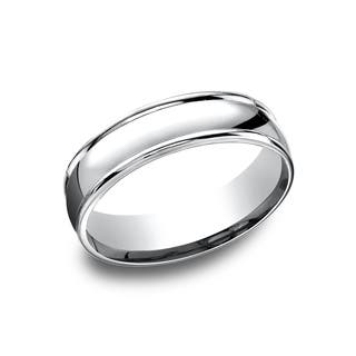 14k White Gold Men's 6.5 mm Classic High Polished Finish Comfort Fit Wedding Band|https://ak1.ostkcdn.com/images/products/14227157/P20818797.jpg?impolicy=medium