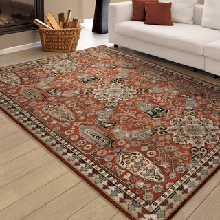 Carolina Weavers Brilliance Collection Ancient Tradition Brick Red (5'3 x 7'6) Area Rug