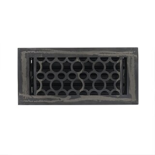 Unikwities 4X10 Heavy Cast Iron Floor Register in Industrial Finish